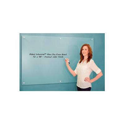 """Global Industrial™ Frosted Glass Dry Erase Board, 72"""" x 48"""""""