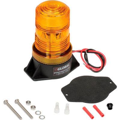 Global Industrial™ High-Profile Amber LED Permanent Mount Forklift Strobe Light 12 to 110 Volts