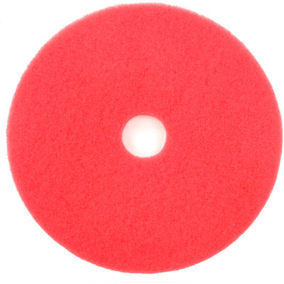 """Global Industrial™ 18"""" Red Buffing Pad - 5 Par cas"""