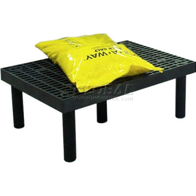 """Plastic Dunnage Rack with Vented Top 36""""W x 24""""D x 12""""H"""