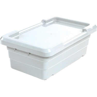 Global Industrial™ Cross Stack Nest Tote Tub -  25-1/8 x 16 x 8-1/2 White - Pkg Qty 6