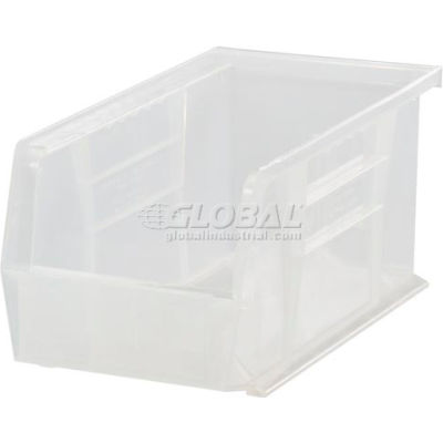 Plastic Stack and Hang Parts Storage Bin 5-1/2 x 14-3/4 x 5 Clear - Pkg Qty 12
