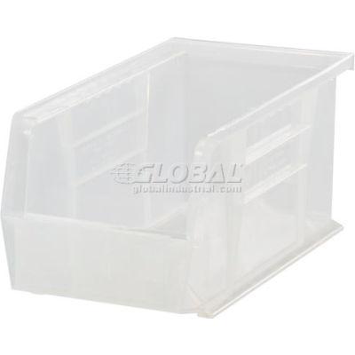 "Global Industrial™ Plastic Stack & Hang Bin, 5-1/2""W x  14-3/4""D x 5""H, Clear - Pkg Qty 12"