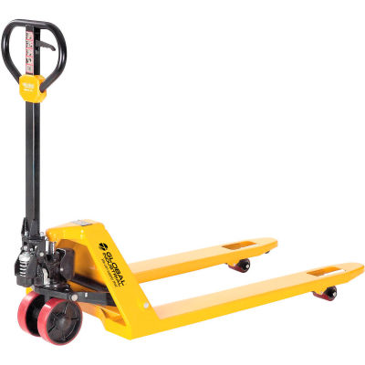 "Global Industrial™ Industrial Duty Pallet Jack Truck, 27""W x 48""L Forks, 5500 Lb. Capacity"