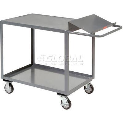 """Jamco Order Picking Cart, 2 Flush Shelves, 24""""Wx36""""L, 1200 Lbs. Cap."""