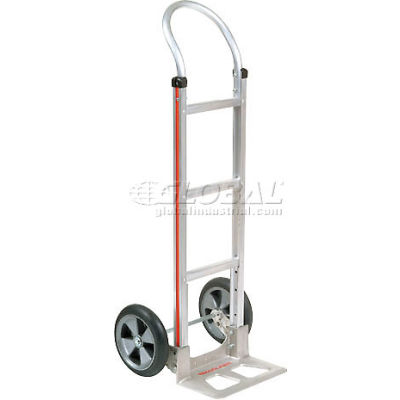Magliner® Aluminum Hand Truck Curved Handle Balloon Wheels