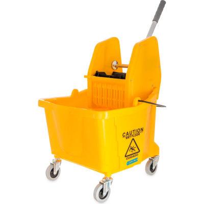 Seau de lavette Commercial de Carlisle avec vers le bas de presse essoreuse 35 pintes, Yellow - 3690504