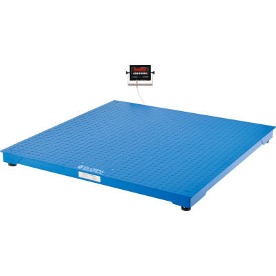 Global Industrial™ NTEP Pallet Scale With LED Indicator, 5'x5', 5,000 lb x 1 lb