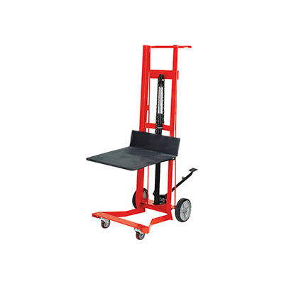 Wesco® Foot Pedal Platform Lift Truck 260008 Four Wheel Style 750 Lb. Cap.
