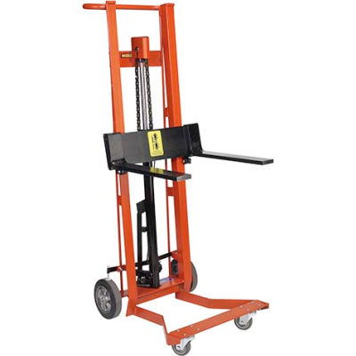 Wesco® Foot Pedal Adjustable Forks Lift Truck 260011 4 Wheel Style 750 Lb.
