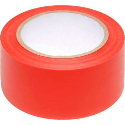 """INCOM® Safety Tape Solid Red, 6 Mil Thick, 2""""W x 108'L, 1 Roll"""
