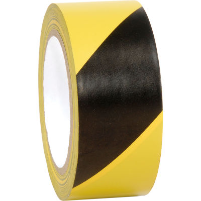 "INCOM® Striped Hazard Warning Tape, Yellow/Black, 2""W  x 108'L, 1 Roll"