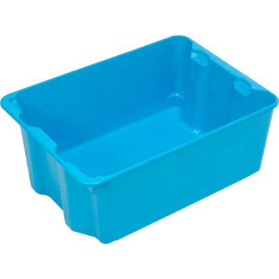 "Molded Fiberglass Nest and Stack Tote 780608 - 25-1/4"" x 18"" x10"", Pkg Qty 5, Blue - Pkg Qty 5"