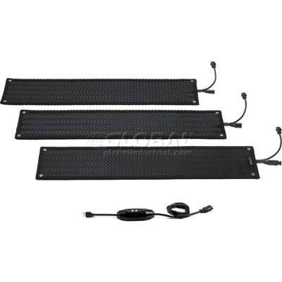 "HeatTrak® Outdoor Snow & Ice Melting Heated Stair Mat 1/2"" Thick 1' x 4' 120 Volt Black"