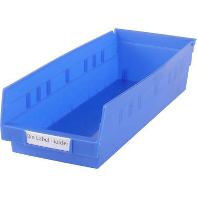 "Aigner Tri-Dex TR-0813 Slide-In Label Holder 13/16"" x 3"" for Shelf Bins, Price per Pack of 25"