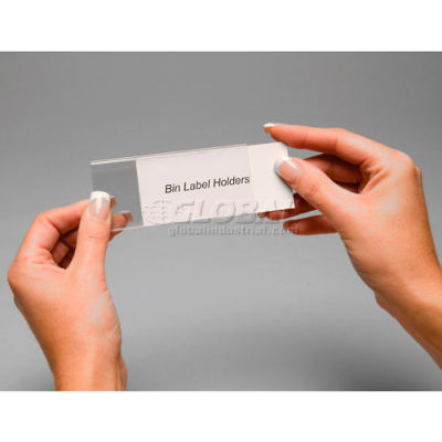 """Aigner Tri-Dex TR-1253 Slide-In Label Holder 1-1/4"""" x 3"""" for Stacking Bins, Price per Pack of 25 - Pkg Qty 2"""