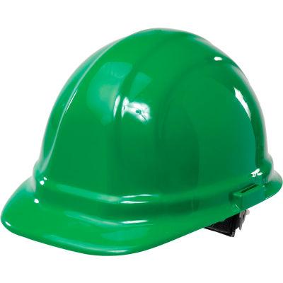 ERB™ 19958 Omega II Hard Hat, 6-Point Ratchet Suspension, Green