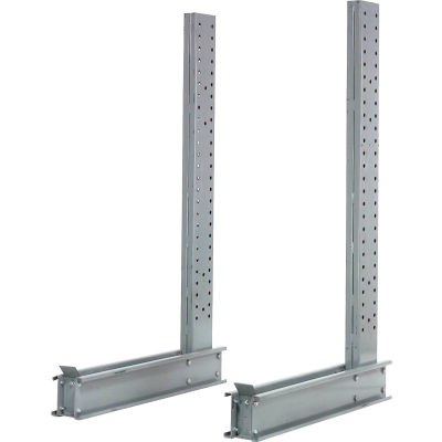 """Global Industrial™ Single Sided Cantilever Upright, 31""""Dx12'H, For 3000-5000 Series"""