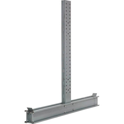 """Global Industrial™ Double Sided Cantilever Upright, 65""""Dx8'H, For 3000-5000 Series"""