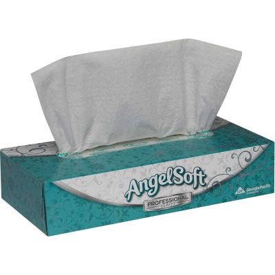 Angelsoft Premium Facial Tissue Flat Box - 100 Sheets/Box, 30 Boxes/Case