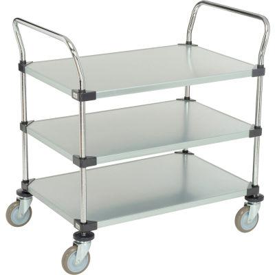 Nexel® Galvanized Steel Utility Cart 3 Shelves 36x24