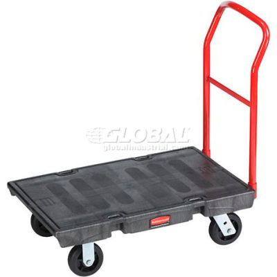 Rubbermaid® FG440600BLA Plastic Deck Platform Truck 36 x 24 2000 Lb. Capacity