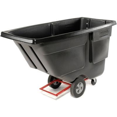 Rubbermaid® Light Duty Plastic Tilt Truck, 1 Cu. Yd. Cap, 850 Lbs. Cap, Black