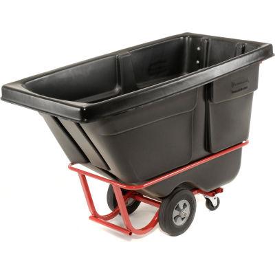 Rubbermaid® Standard Duty Plastic Tilt Truck, 1/2 Cu. Yd. Cap, 850 Lbs. Cap, Black