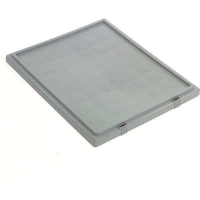 Global Industrial™ Lid LID231 for Stack and Nest Storage Container SNT225, SNT230, Gray - Pkg Qty 3