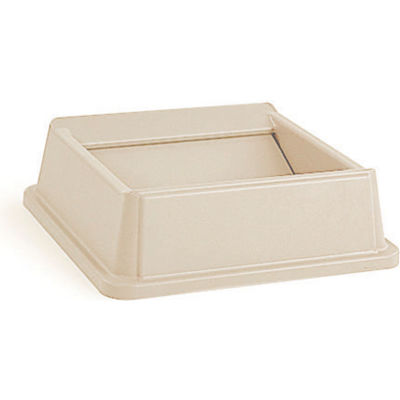 Lid For 35 & 50 Gallon Square Rubbermaid Waste Receptacles - Beige