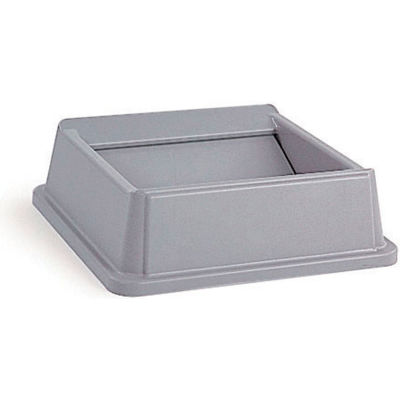 Lid For 35 & 50 Gallon Square Rubbermaid Waste Receptacles - Gray