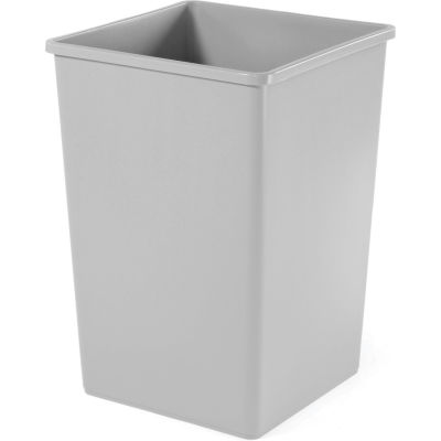 50 Gallon Square Rubbermaid Waste Receptacle - Gray