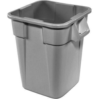 28 Gallon Square Rubbermaid Brute Waste Receptacles - Gray