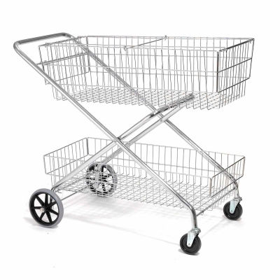 Global Industrial™ Wire Utility Basket Mail Cart, 200 Lb. Capacity