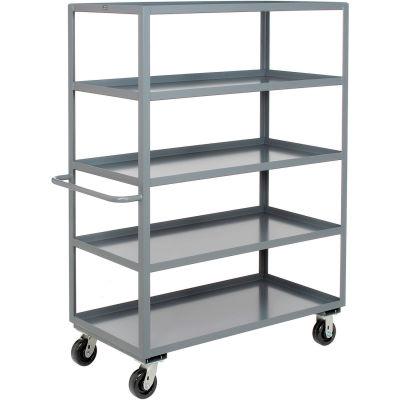 Heavy Duty Shelf Truck 5 Shelves 36x24 3000 Lb. Capacity