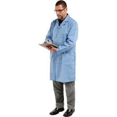 Unisex Microstatic ESD Lab Coat - Blue, L