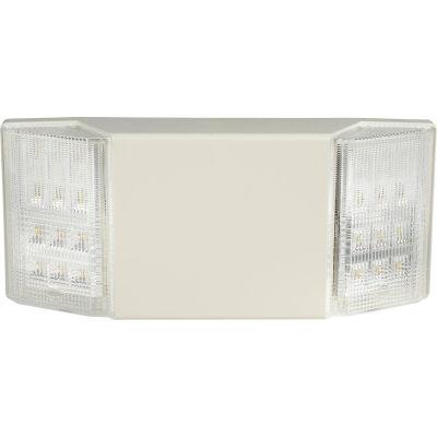 Global Industrial™ 2 Head LED Emergency Unit w/ Fixed Optics and Ni-Cad Battery Backup