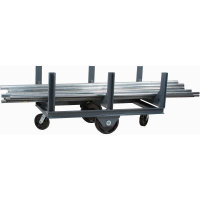 "Durham Mfg.® Bar Cradle Truck BCTE-2896-4K-95 96""L 4000 Lb. Capacity"