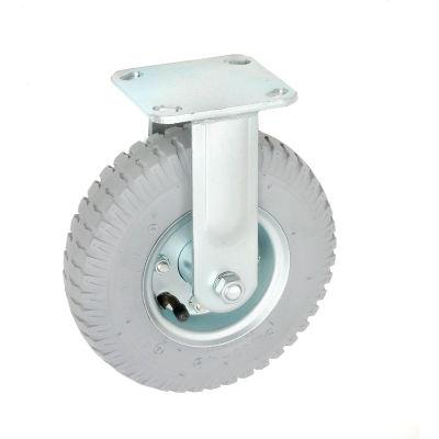 "Global Industrial™ Rigid Plate Caster 8"" Full Pneumatic Wheel 300 lb. Capacity"