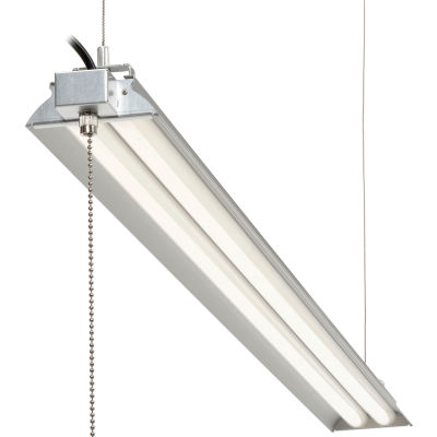 "Global Industrial™ 72"" LED Aluminum Shop Light, 35W, 4000K, 4375 Lumens, 48"" Adj Height, 6'Cord"