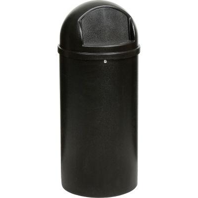 25 Gallon Rubbermaid Marshal Waste Receptacles - Black