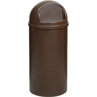 25 Gallon Rubbermaid Marshal Waste Receptacles - Brown