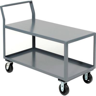 "Jamco Heavy Duty Service Cart, 2 Shelves, 30""Wx60""L, 2000 Lbs. Cap."