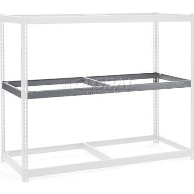 """Global Industrial™ Additional Level For Wide Span Rack 60""""Wx36""""D No Deck 1200 Lb Capacity, Gray"""