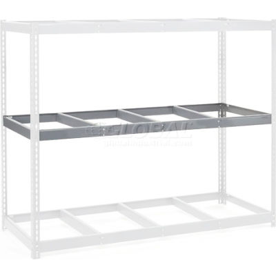 """Global Industrial™ Additional Level For Wide Span Rack 96""""Wx36""""D No Deck 1100 Lb Capacity, Gray"""