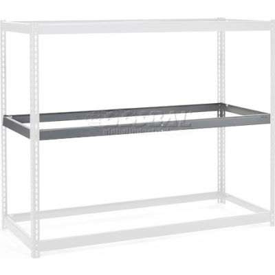 """Global Industrial™ Additional Level For Wide Span Rack 48""""Wx48""""D No Deck 1200 Lb Capacity, Gray"""