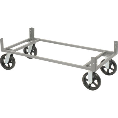 """Global Industrial™ 48""""Wx24""""D Gray Dolly Base Without Casters"""