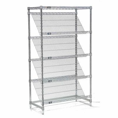 "Slant Wire Shelving - 5 Shelves - 36""W x 18""D x 74""H"