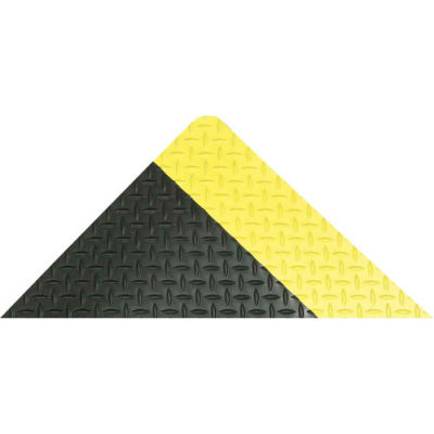 "NoTrax® Diamond-Tuff™ Max Anti Fatigue Mat 1"" Thick 2' x 75' Black/Yellow Border"