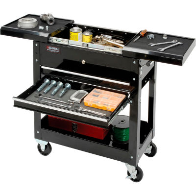 "Global Industrial™ 27"" 2-Drawer Tool Cart With Sliding Top"